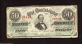 Confederate Notes:1863 Issues, T57 $50 1863. The cut cancels on this mid-grade $50 have ...