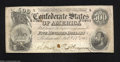 Confederate Notes:1864 Issues, T64 $500 1864. A small red ink spot is found between the ...
