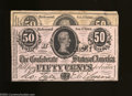 Confederate Notes:1864 Issues, T72 50 Cents 1864 Two Examples. Both of these fractionals ... (2 notes)