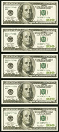 Small Size:Federal Reserve Notes, Fr. 2178-K* $100 2003 Federal Reserve Star Notes. Five Examples. Choice About Uncirculated or Better.. ... (Total: 5 notes)