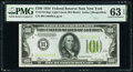 Fr. 2152-B $100 1934 Light Green Seal Federal Reserve Note. PMG Choice Uncirculated 63 EPQ