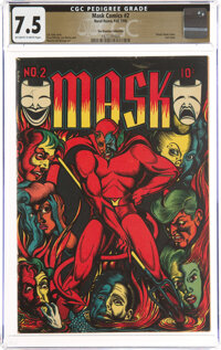 Mask Comics #2 The Promise Collection Pedigree (Rural Home, 1945) CGC VF- 7.5 Off-white to white pages