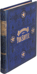 Books:First Editions, Mark Twain. The Adventures of Tom Sawyer. Hartford: American Publishing Company, 1876. First American edition, first...