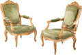 Furniture, A Large Pair of Louis XV Carved Giltwood Fauteuils, France, circa 1860. 43 x 26-3/4 x 25-1/4 inches (109.2 x 67.9 x 64.1 cm)... (Total: 2 Items)