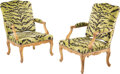 Furniture, A Pair of French Régence Carved Giltwood Fauteuils, 18th century . 39 x 26-3/4 x 24 inches (99.1 x 67.9 x 61.0 cm) (each). ... (Total: 2 Items)