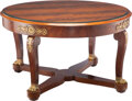 Furniture, A French Empire Mahogany Dining Table, 19th century . 30 x 51 inches (76.2 x 129.5 cm). Property from the Collection of ...