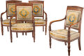 Furniture, A Set of Four French Empire Mahogany Fauteuils, circa 1810. 36-1/4 x 24 x 18 inches (92.1 x 61.0 x 45.7 cm) (each). Prop... (Total: 4 Items)