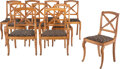 Furniture, A Set of Ten French Charles X-Style Cherrywood Dining Chairs, late 19th century . 32-3/4 x 21-1/4 x 19-1/4 inches (83.2 x 54... (Total: 10 Items)