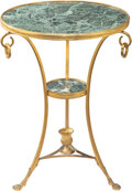 Furniture, An Empire-Style Gilt-Bronze and Marble Gueridon, early 20th century. 28-1/2 x 21-1/2 x 21-1/2 inches (72.4 x 54.6 x 54.6 cm)...