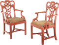 Furniture, A Pair of George III Mahogany Armchairs. 40-1/4 x 24 x 21-3/4 inches (102.2 x 61.0 x 55.2 cm) (each). Property from the ... (Total: 2 Items)