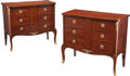 Furniture, A Pair of French Kingwood Parquetry Commodes, late 19th century. 31-1/2 x 35 x 16-1/2 inches (80.0 x 88.9 x 41.9 cm). Pr... (Total: 2 Items)
