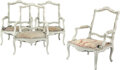 Furniture, A Set of Four French Louis XV-Style Painted Fauteuils, late 19th century . 40 x 29 x 25 inches (101.6 x 73.7 x 63.5 cm) (eac... (Total: 4 Items)