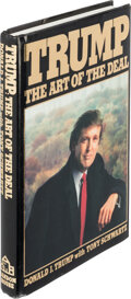 Books:Business & Economics, Donald Trump and Tony Schwartz. The Art of the Deal. New York: Random House, [1987]. Signed and inscribed in blu...