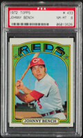 Baseball Cards:Singles (1970-Now), 1972 Topps Johnny Bench #433 PSA NM-MT 8. The Big ...