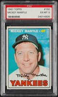 Baseball Cards:Singles (1960-1969), 1967 Topps Mickey Mantle #150 PSA EX-MT 6. Offered...