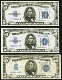 Fr. 1650 $5 1934 Silver Certificate. About Uncirculated; Fr. 1650 $5 1934 Silver Certificate. Crisp Uncirculated; Fr...