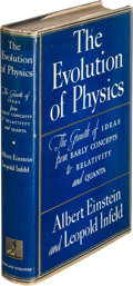 Books:Signed Editions, Albert Einstein and Leopold Infeld. The Evolution of Physics. The growth of ideas from early concepts to relativit...