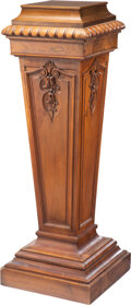 Furniture, A Carved Walnut Pedestal, 20th century. 46 x 16-1/2 x 16-1/2 inches (116.8 x 41.9 x 41.9 cm). Property from the Collecti...