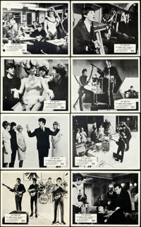 """A Hard Day's Night (United Artists, 1964). Very Fine-. British Front of House Photo Set of 8 (8"""" X 10""""). ... (..."""