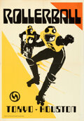 Movie Posters:Science Fiction, Rollerball (United Artists, 1975). Folded, N/A. Ma...