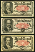 Fractional Currency:Fifth Issue, Fr. 1381 50¢ Fifth Issue 3 Examples. Very Fine or Better.. ... (Total: 3 notes)