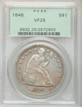1846 $1 VF25 PCGS. PCGS Population: (19/817). NGC Census: (9/516). CDN: $375 Whsle. Bid for NGC/PCGS VF25. Mintage 110,6...