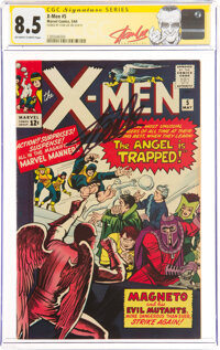 X-Men #5 Signature Series: Stan Lee (Marvel, 1964) CGC VF+ 8.5 Off-white to white pages