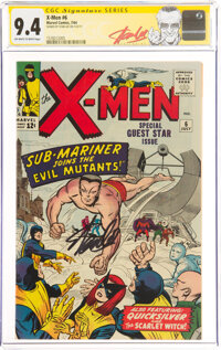 X-Men #6 Signature Series: Stan Lee (Marvel, 1964) CGC NM 9.4 Off-white to white pages