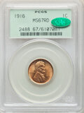 1916 1C MS67 Red PCGS. CAC. A beautifully preserved and luminous example, virtually flawless in its preservation with go...