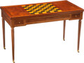 Furniture, An Inlaid Mahogany Flip-Top Game Table, late 18th century. 28-1/2 x 44-1/4 x 22-7/8 inches (72.4 x 112.4 x 58.1 cm). Pro...
