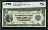 Fr. 711 $1 1918 Federal Reserve Bank Note PMG Very Fine 25