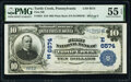 National Bank Notes:Pennsylvania, Turtle Creek, PA - $10 1902 Plain Back Fr. 624 First National Bank Ch. # (E)6574 PMG About Uncirculated 55 EPQ.. ...