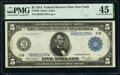 Fr. 849 $5 1914 Federal Reserve Note PMG Choice Extremely Fine 45