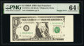 Error Notes:Miscellaneous Errors, Multiple Errors Fr. 1915-L $1 1988A Federal Reserve Note. PMG Choice Uncirculated 64 EPQ.. ...