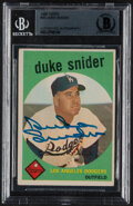 Autographs:Sports Cards, Signed 1959 Topps Duke Snider #20 Beckett Authentic Auto....
