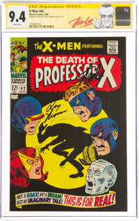X-Men #42 Signature Series: Stan Lee and Roy Thomas (Marvel, 1968) CGC NM 9.4 White pages