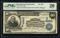 National Bank Notes:Pennsylvania, Bloomsburg, PA - $10 1902 Date Back Fr. 619 The Farmers National Bank Ch. # (E)4543 PMG Very Fine 20.