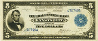 Fr. 801 $5 1915 Federal Reserve Bank Note PMG Choice Extremely Fine 45