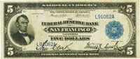 Fr. 808 $5 1915 Federal Reserve Bank Note PMG Very Fine 30