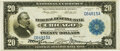Fr. 824 $20 1915 Federal Reserve Bank Note PMG Choice Very Fine 35