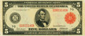 Fr. 838b $5 1914 Red Seal Federal Reserve Note PMG Choice About Unc 58