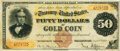 Large Size:Gold Certificates, Fr. 1188 $50 1882 Gold Certificate PMG Very Fine 30.. ...
