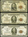 Small Size:Federal Reserve Bank Notes, Fr. 1880-B $50 1929 Federal Reserve Bank Note. Fine;. Fr. 1890-E; G $100 1929 Federal Reserve Bank Note. Fine or Better.... (Total: 3 notes)
