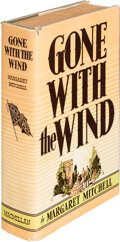 """Books:Literature 1900-up, Margaret Mitchell. Gone With the Wind. New York: The Macmillan Company, 1936. First edition, first printing, with """"P..."""