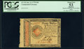 Continental Currency January 14, 1779 $20 PCGS Apparent About New 53