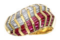 Estate Jewelry:Rings, Diamond, Ruby, Gold Ring Stones: Baguette and ...