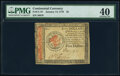 Colonial Notes:Continental Congress Issues, Continental Currency January 14, 1779 $5 PMG Extremely Fine 40.. ...