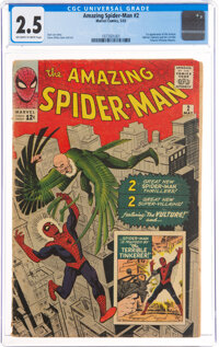 The Amazing Spider-Man #2 (Marvel, 1963) CGC GD+ 2.5 Off-white to white pages