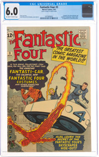 Fantastic Four #3 (Marvel, 1962) CGC FN 6.0 Off-white to white pages