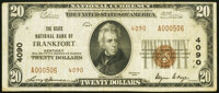 Frankfort, KY - $20 1929 Ty. 2 The State National Bank Ch. # 4090 Very Fine